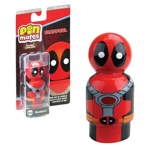 Deadpool Masked Pin Mate Wooden Collectible