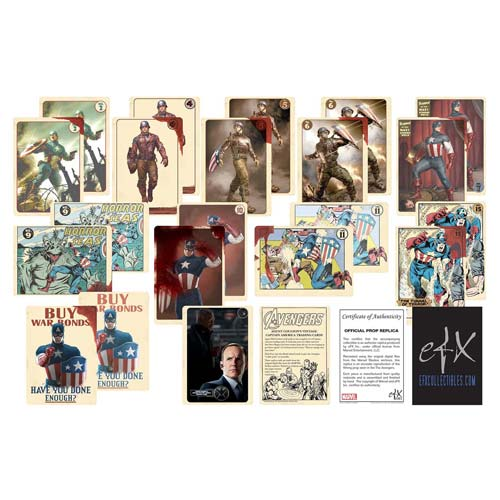 Avengers Coulson's Vintage Captain America Trading Card Set