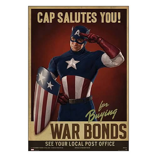 Captain America First Avenger Cap Salutes You Replica Poster
