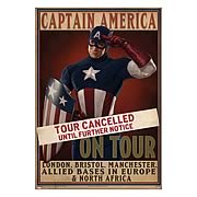 Captain America First Avenger Tour Cancelled Replica Poster