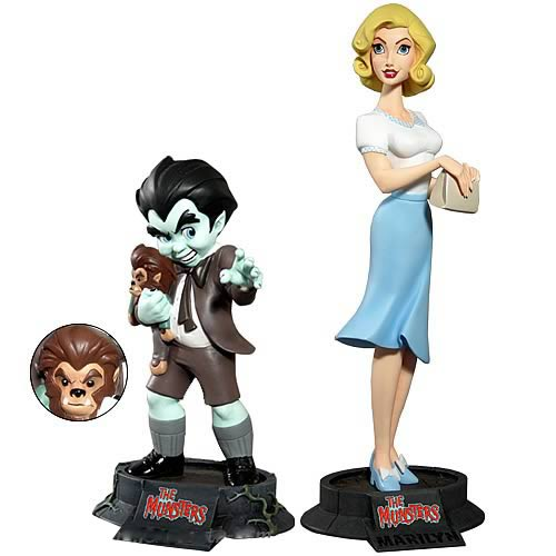 The Munsters Eddie and Marilyn Munster Maquettes
