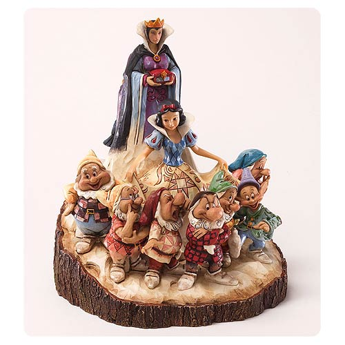 Disney Traditions Snow White Carved by Heart Statue