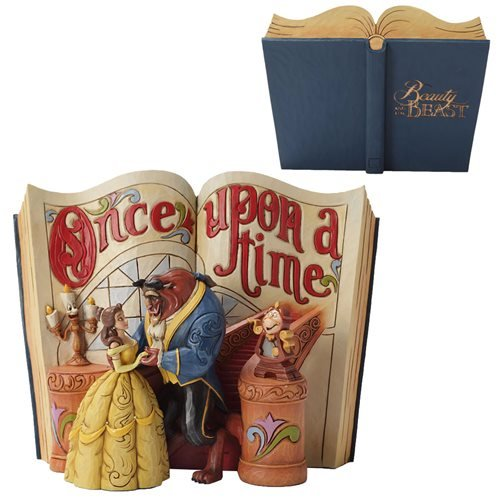 Disney Traditions Beauty and the Beast Storybook Statue