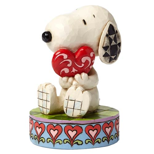 Peanuts Traditions Snoopy with Heart I Love You Statue