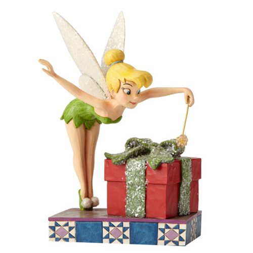 Disney traditions tinker bell with gift statue enesco disney fairies statues at - Tinkerbell statues ...