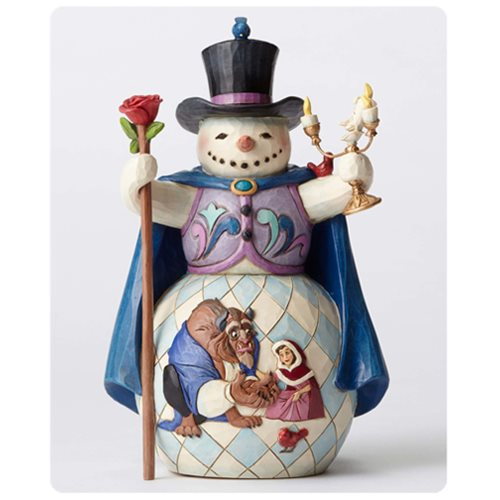 Disney Traditions Beauty And The Beast Snowman Statue