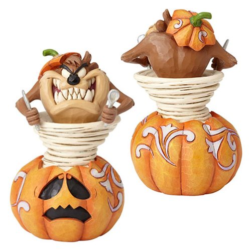 looney tunes by jim shore halloween taz taz o lantern statue - Halloween Statues