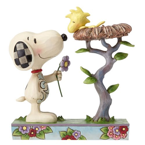 Peanuts_Jim_Shore_Snoopy_with_Woodstock_in_Nest_Statue