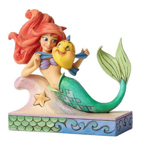 Disney_Traditions_Little_Mermaid_Ariel_with_Flounder_Statue