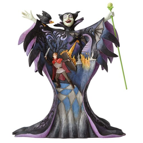 Disney_Traditions_Sleeping_Beauty_Maleficent_with_Scene_Malevolent_Madness_Statue