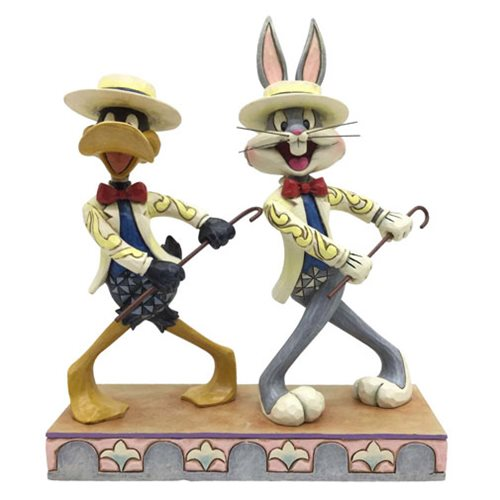 Looney Tunes Jim Shore Bugs Bunny and Daffy Duck Statue
