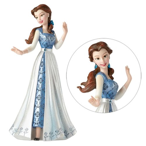 Disney Showcase Beauty and the Beast Belle Blue Dress Statue