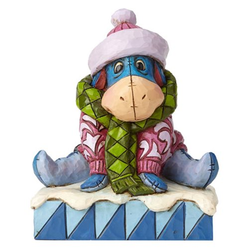Disney Traditions Winnie the Pooh Winter Eeyore Waiting For Spring Statue