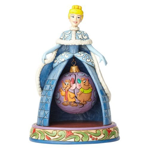 Disney Traditions Cinderella Christmas Tidings of Friendship Statue