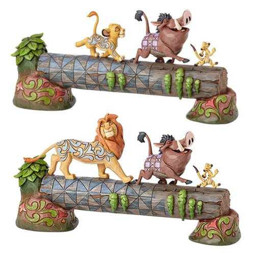 Disney Traditions The Lion King Simba Timon and Pumbaa Carefree Camaraderie Statue