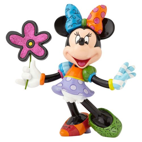 Disney Minnie Mouse with Flowers Statue by Romero Britto