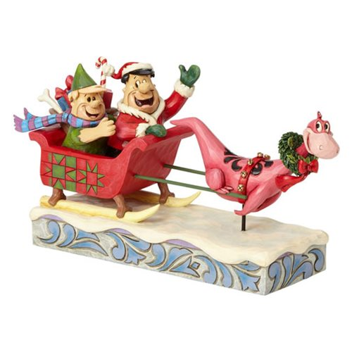 Flintstones Hanna Barbera by Jim Shore Sleigh Ride Statue
