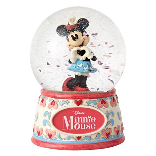 Disney Traditions Sweetheart Minnie Mouse Water Globe