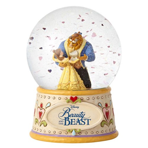 Disney Traditions Beauty and the Beast 6 1/2-Inch Water Globe