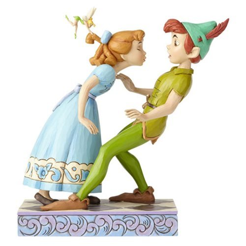 Disney Traditions Peter Pan, Wendy, and Tinker Bell An Unexpected Kiss Statue