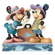 Disney Traditions Travel Mickey and Minnie Mouse Statue