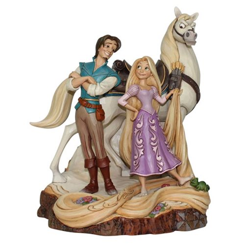 Disney Traditions Tangled Live Your Dream Carved by Heart Statue