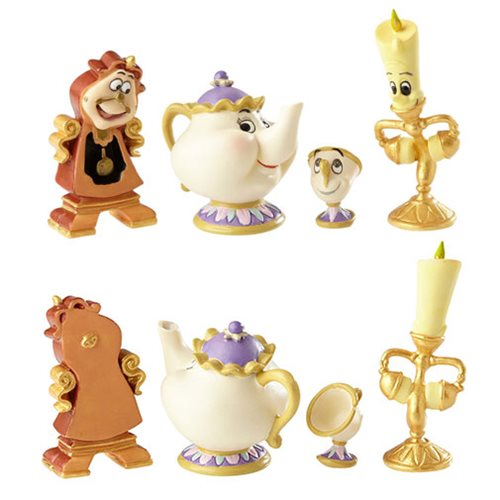 Disney Showcase Beauty and the Beast Enchanted Objects Set Statue
