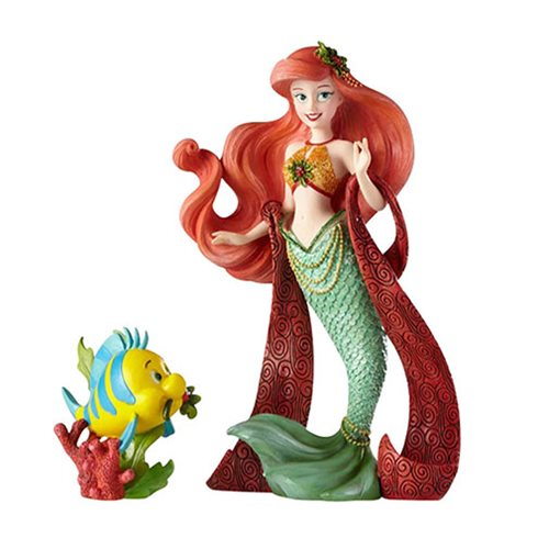 Disney Showcase The Little Mermaid Holiday Ariel and Flounder Statue