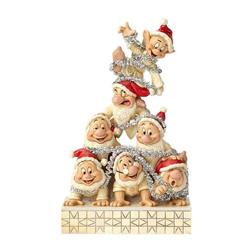 Disney Traditions Snow White White Woodland Seven Dwarfs Precarious Pyramid Statue by Jim Shore