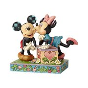 Disney Traditions Kissing Booth Mickey and Minnie Statue