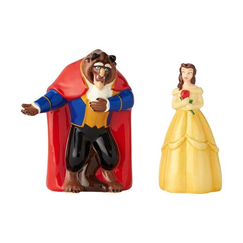 Disney Parks Chip Mrs Pots Beauty and the Beast Salt /& Pepper Shakers Set NEW