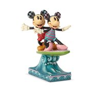Disney Traditions Minnie & Mickey Surfboard Surf's Up Statue