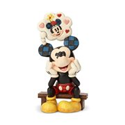 Disney Traditions Mickey Mouse with Love Thought Statue