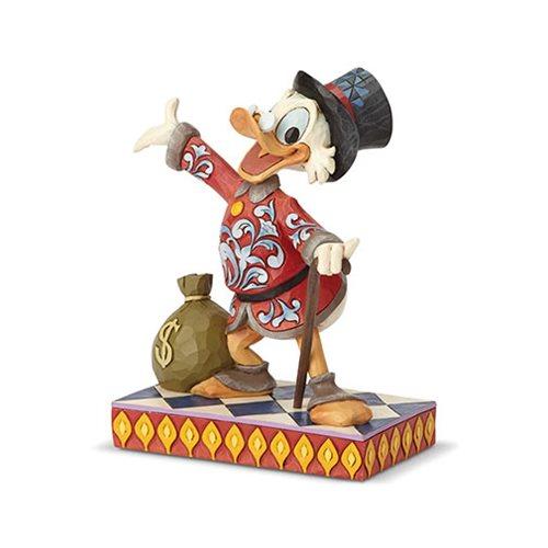 Disney Traditions DuckTales Scrooge Treasure Seeking Tycoon Statue by Jim Shore