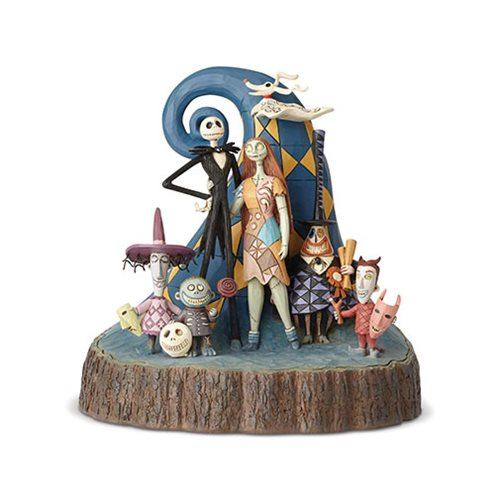 Disney Traditions Nightmare Before Christmas Carved By Heart What a Wonderful Nightmare Statue by Jim Shore