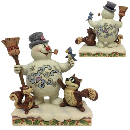 Frosty the Snowman Woodland Friends Statue by Jim Shore