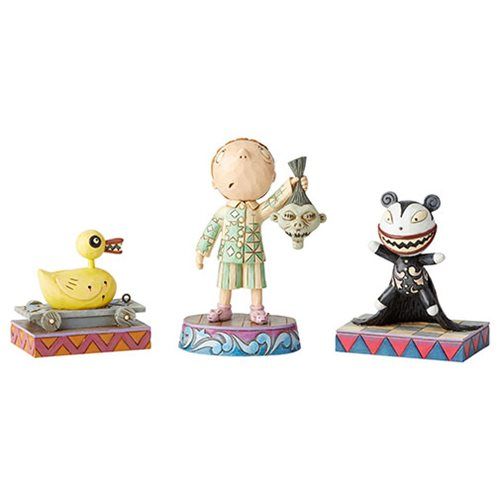 Disney Traditions Nightmare Before Christmas Ghastly Gifts by Jim Shore Statue Set