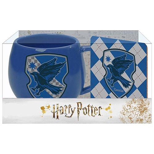 Harry Potter Blue Ravenclaw Crest 12 oz. Mug and Coaster Set
