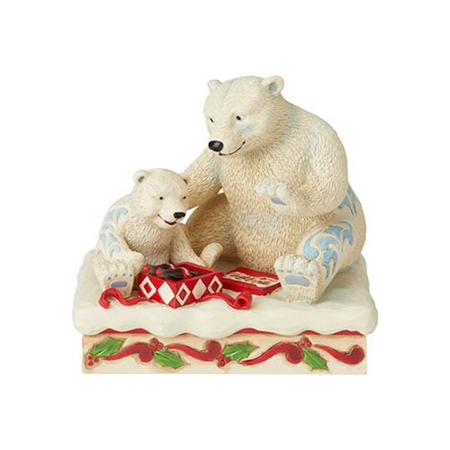 Coca-Cola Mama and Baby Polar Bears Holiday Treat by Jim Shore Statue