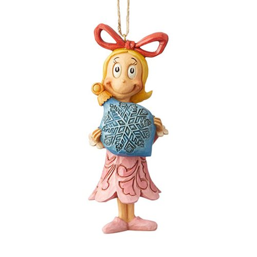 Dr. Seuss The Grinch Cindy Holding Ball Holiday Ornament