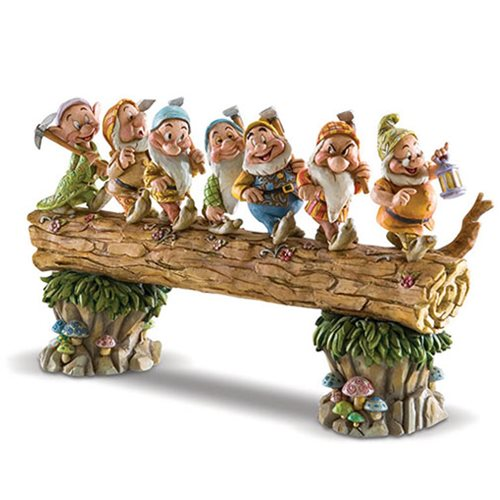 Disney Traditions Snow White and the Seven Dwarfs Log Masterpiece by Jim Shore Statue