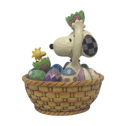 Peanuts_Snoopy_and_Woodstock_Easter_Basket_An_Easter_Surprise_by_Jim_Shore_Statue