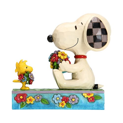 Peanuts_Snoopy_and_Woodstock_with_Flowers_Flowers_For_Friends_by_Jim_Shore_Statue