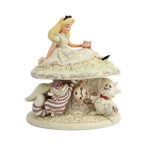 Disney_Traditions_Alice_in_Wonderland_White_Woodland_Whimsy_and_Wonder_by_Jim_Shore_Statue