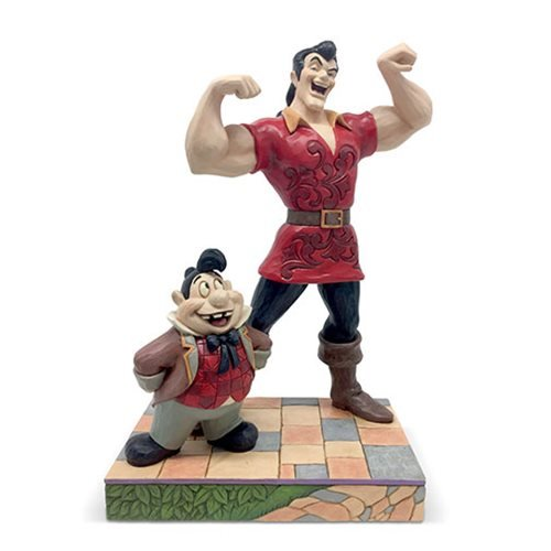 Disney Traditions Beauty and the Beast Gaston and Lefou Muscle-Bound Menace by Jim Shore Statue