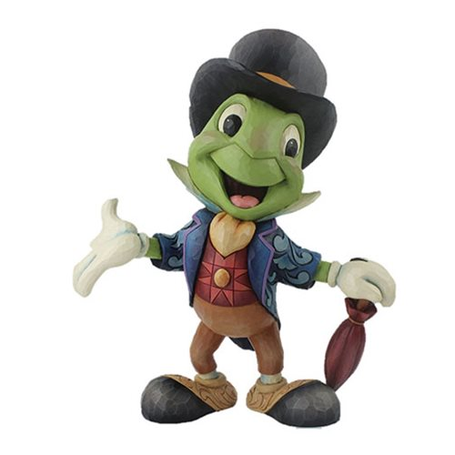 Disney Traditions Pinocchio Jiminy Cricket Big Fig Cricket's the Name by Jim Shore Statue