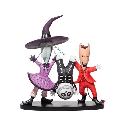 Disney Showcase Nightmare Before Christmas Lock Shock and Barrel Statue