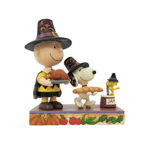 Peanuts Thanksgiving Charlie Brown Thankful for Friendship Statue by Jim Shore