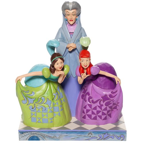 Disney Traditions Cinderella Evil Stepmother and Sisters Statue by Jim Shore