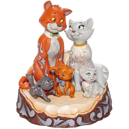 Disney Traditions The Aristocats Carved by Heart Statue by Jim Shore